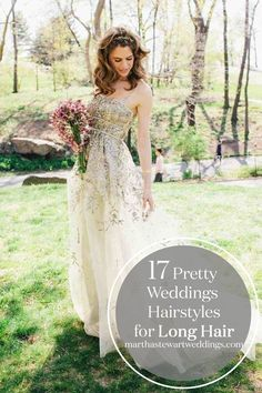 17 Pretty Weddings Hairstyles for Long Hair | Martha Stewart Weddings