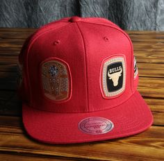 Chicago Bulls Mitchell   Ness Rings Snapback Hat 6a75ad46223