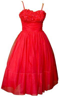 années 1950 petite robe bal rouge Saint Valentin par TopangaHiddenT