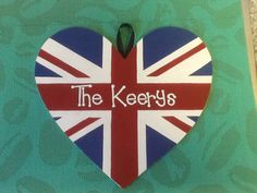 Union flag hand painted wall plaque. www.facebook.com/handpaintedbyp
