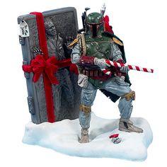 BLOG DOS BRINQUEDOS: Star Wars Boba Fett Carbonite Christmas Statue