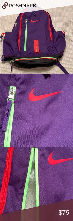 28f30034920f Kevin Durant KD Nike Backpag Bookbag Purple Red Gently used
