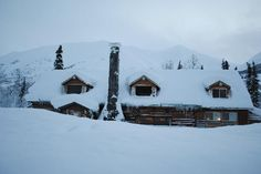 Summit Lake Lodge.  This would be so cozy in front of a big fireplace with cedar cabin walls, in comfy chairs and covered with warm fur blankets, hot coffee, my dogs, my family...ahhhhhhhhh