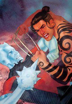 Iceman_Vol_3_4 Iceman todavía está aprendiendo a sentirse cómodo en su propia piel. ¡Y está a punto de encontrarse con un hombre que tal vez sea TANTO cómodo con el suyo!   El operador más cool de los X-Men está a punto de aprender una o dos cosas del propio hijo de Wolverine, DAKEN