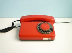 Eastern European 1980s dial rotary phone.