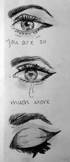 414 best sad drawings images in 2019 Sad Sketches, Sad Drawings, Pencil Art Drawings, Drawing Sketches, Sketching, Drawings Of Sadness, I Love You Drawings, Eye Sketch, Simple Art Drawings