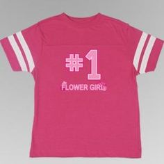 Our Flower Girl / Junior Bridesmaid Striped Tee Shirt will have your littlest bridal party members feeling so special! She'll enjoy wearing this shirt before and after your special day. These Jersey-style shirts are available in a variety of designs. Junior Bridesmaid Gifts, Flower Girl Gifts, Striped Tee, Shirt Style, Tee Shirts, Girly, Flowers, Mens Tops, Women's