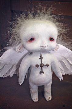 free printable steampunk paper dolls   ON RESERVE - Oclock - little fallen angel art doll ooak pure sculpt