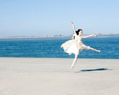 Ballet at the beach.