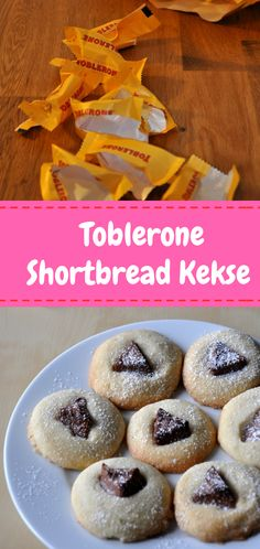 Leckere Toblerone Shortbread Kekse zu Weihnachten. #diygeschenke #Schokolade #chirstmas