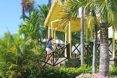 When touring Caribelle Batik take a walk up to our patio and enjoy to views of our garden.