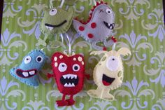 Naughty little monsters, (choose your colors) Original baby mobiles since 2009. $60.00, via Etsy.