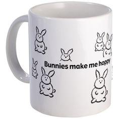 Bunnies Make Me Hoppy Mug - Xmas present for my mom!