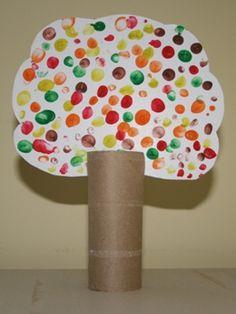 Fingerprint Fall Trees - Craft Fiesta - Basteln mit Kindern im Herbst - Helloween - Kids Crafts, Leaf Crafts, Fall Crafts For Kids, Tree Crafts, Toddler Crafts, Preschool Crafts, Projects For Kids, Crafts To Sell, Art Projects