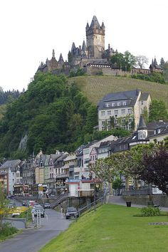 Cochem Castle overlooking Cochem in the Moselle Valley, Germany
