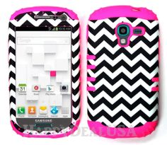 KoolKase Hybrid Impact Cover Case for Samsung Galaxy Exhibit T599 PK/Chevron 98
