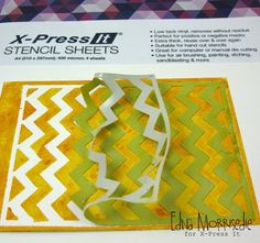 X-Press It Australia | X-Press It Stencil Sheets: White Card to Colourful Card