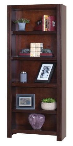 Kathy Ireland Home by Martin Carlton Open Bookcase - Full...