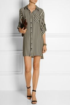 Milly | Stretch-crepe de chine shirt dress | NET-A-PORTER.COM, How would you style this? http://keep.com/milly-stretch-crepe-de-chine-shirt-dress-net-a-portercom-by-chynell_evans/k/0fmPskABA9/