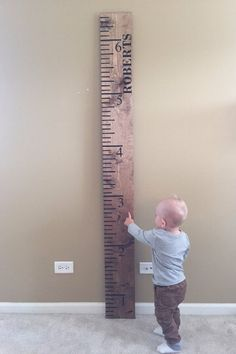 Kids Height Ruler | Wooden Growth Chart | Oversized Ruler | Rustic Growth Chart | Personalized Growth Chart | Growth Chart | Wall Decor by RobertsCraftShop on Etsy https://www.etsy.com/listing/470480639/kids-height-ruler-wooden-growth-chart