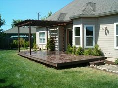 Deck Built In Step Length Of Deck Surround Tree French