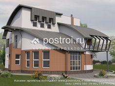 Проект трехэтажного круглого дома № J-353-1K