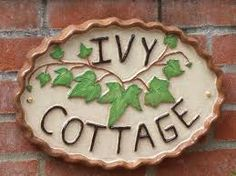 ivy cottage wooden sign | What to Know Before Purchasing a House Name Sign