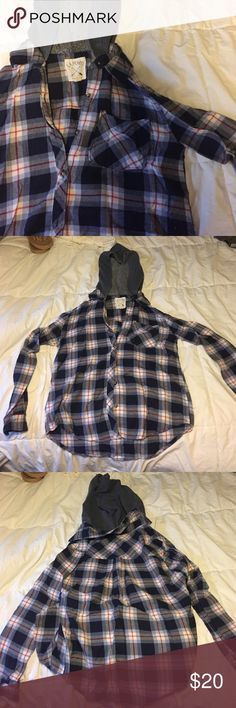 LA Hearts hooded flannel Worn a handful of times, in great gently used condition. NO TRADES LA Hearts Tops Tees - Long Sleeve
