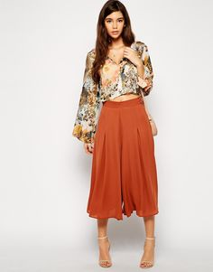 Dressy culottes perfect for a night out.