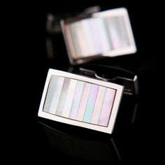 Striped Mother of Pearl Cufflinks