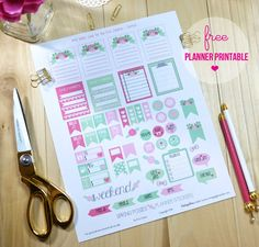 Spring Posies Planner Stickers   Free Printable for personal use only