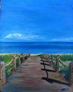 TCI boardwalk. #beach #art #painting #ocean SOLD