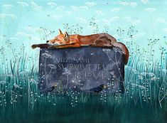 Sam Cannon, We Are Love, Fox Art, Summer Sun, Watercolour Painting, Pencil Drawings, Colored Pencils, Hand Lettering, Survival