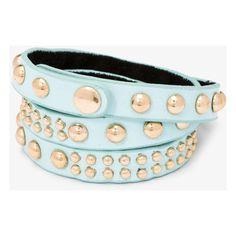 FOREVER 21 Studded Wraparound Bracelet ($8.80) ❤ liked on Polyvore