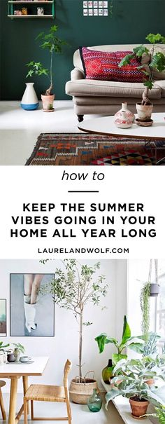 How to achieve endless summer style at home. All Year Round, Summer Design, Summer Vibes, Summertime, Interior Design, Decoration, House Styles, Furniture, Home Decor