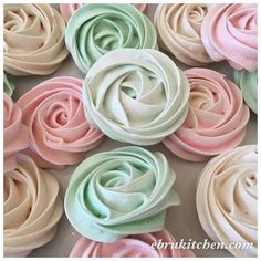 Meringue Cookies Cookies - 24 large Rose Meringue cookies
