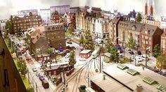 Rheinberger Strassenbahn Betriebe 2013 (HD) Model Railway Track Plans, Military Diorama, Model Train Layouts, N Scale, Christmas Villages, Rc Model, Model Building, Beautiful Architecture, Model Trains