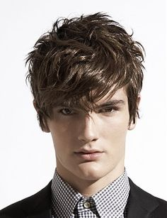 A short brown straight hairstyle by Peter Prosser
