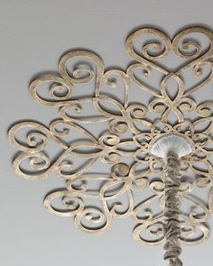 Scrolled Ceiling Medallion. All sorts of fun patterns available! - Neiman Marcus