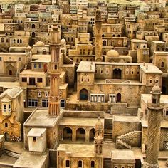 A miniature park on the Golden Horn of Istanbul, Turkey. Miniatures of old town Mardin, Turkey Places Around The World, Oh The Places You'll Go, Places To Travel, Travel Destinations, Places To Visit, Around The Worlds, Turkey Destinations, Beautiful World, Beautiful Places