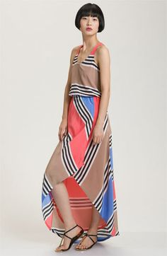 Addison Story Stripe Silk Faux Wrap Maxi Dress | Nordstrom