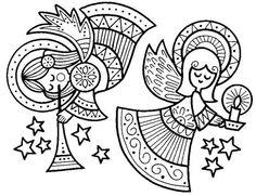 Fichas y dibujos de Navidad - Petri Castaño - Picasa Web Albums Blank Coloring Pages, Easter Coloring Pages, Christmas Coloring Pages, Coloring Books, Christmas Crafts To Make, Christmas Colors, Christmas Angels, Christmas Art, Xmas Drawing