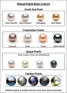 Pearl Types and Colors | What is the difference between natural pearls and immitation pearls?