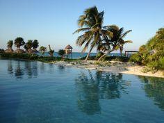 Secrets Maroma Beach, Infiniti Pool overlooking the ocean. Riviera Maya, Mexico. Our favorite tropical destination.