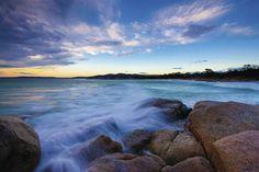Looking across Bay of Fires. Photo: Tourism Tasmania/Andrew McIntosh