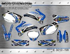 Yamaha YZf 250-450 '06-'09 - Moto-StyleMX - graphics decals kits Yamaha Yzf, Custom Design, Decals, Graphics, Tying Knots, Motocross Bikes, Formal Suits, Tags, Graphic Design