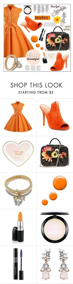 """""""Slip 'Em On: Mules by Rosegal II/44"""" by samra-bv ❤ liked on Polyvore featuring Halston Heritage, Kate Spade, Topshop, MAC Cosmetics, Christian Dior, vintage and mules"""