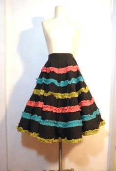 Ruffles Circle skirt with ruffles. Cute.