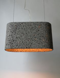 Handmade from lava stone, original grey color captured in a timeless shape. The Aso San basalt lava pendant lamp was imagined by German designer Daniel Stoller and hand-chiseled. Concrete Light, Concrete Lamp, Concrete Design, Concrete Furniture, Concrete Projects, Cool Lighting, Lighting Design, Eco Design, Design Art
