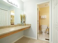 Master bathroom with vanity/dressing area